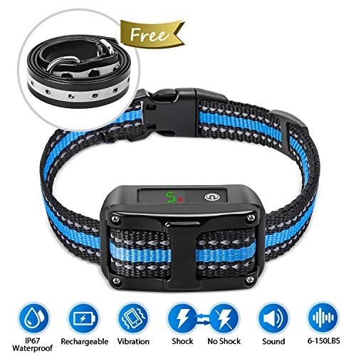 PetYeah [Upgraded 2019] Dog Anti Bark Collar Smart Detection Adjustable Collar Rechargeable...