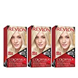 Revlon Colorsilk Beautiful Color, Permanent Hair Dye with Keratin, 100% Gray Coverage, Ammonia Free, 05 Ultra Light Ash Blonde (Pack of 3)