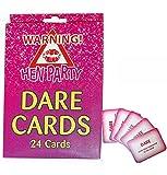 KCH 24 Pcs Juego De Cartas Dare Cards para Despedida De Soltera Equipo Novia para Ser Juego De Fiesta Tarjeta De Juego para Beber