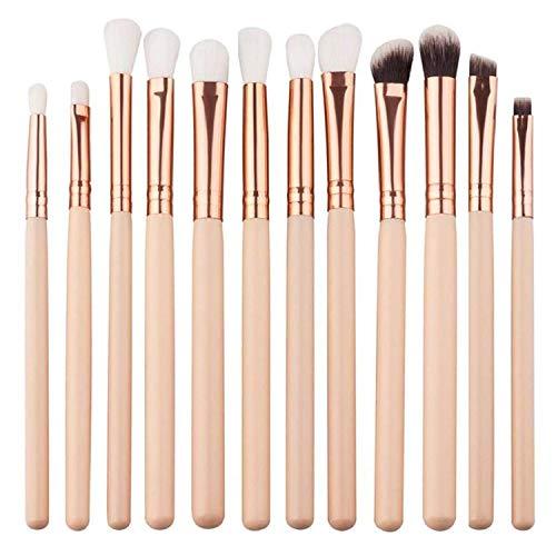 Cxssxling lot de 12pcs Pinceaux Maquillages Yeux professionnel Pinceaux Poudre Liquide Crème Cosmetics Pinceau Estompeur Outil
