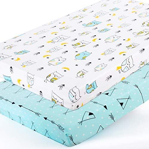 Stretchy Pack n Play Playard Sheets Brolex 2 Pack Portable Mini Crib Sheets Convertible Playard product image