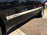 Made in USA! Compatible with 2019-2020 Dodge Ram 1500 Crew Cab 5.7' Bed 304 Stainless Steel Chrome Rocker Panel Trim Side Molding with RAM Logo Cutout 3.5' Wide 12PC
