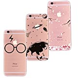 Freessom Lot de 3 Coque iPhone 5/5s SiliconeTransparente Motif Univers Space Noir...