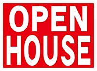 シンプル看板「OPEN HOUSE」屋外可(約H22.7cmxW30.5cm)
