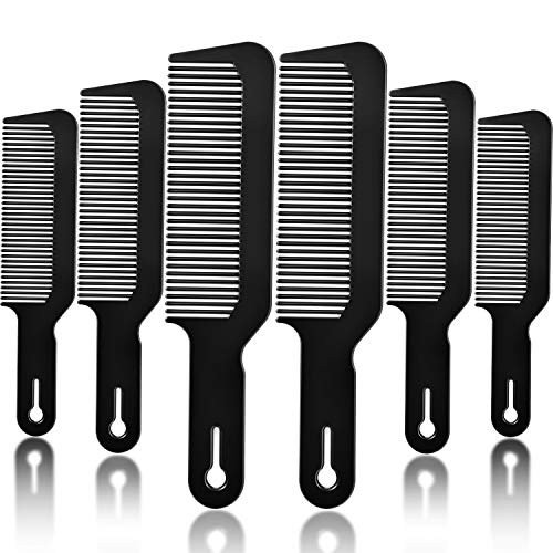 6 Packs Barber Combs, Barberology 9 Inch Clipper Combs Flat Top Clipper Combs Barber Blending Comb Heat Resistant Hair Cutting Combs for Clipper-Cuts And Flattops (Black)