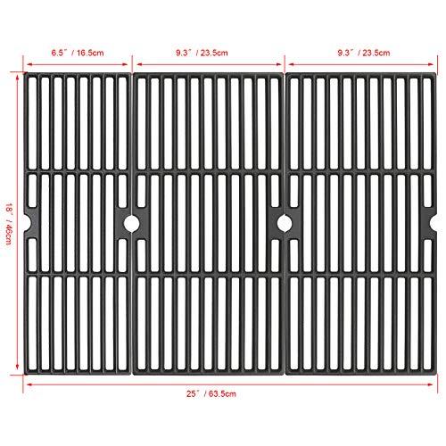 Hisencn Cast Iron Cooking Grids Grates 18'' for Charbroil Performance 463377017, 463347017, 463376018P2, 463376117, 463377117, 463673617 4-Burner 475 Cart Liquid Propane Gas Grill, 5-Burner 463347519 Grates Grids