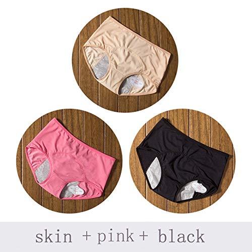 Heliansheng Ropa Interior de Mujer del período Menstrual a Prueba de Fugas y Ropa Interior de Cintura Media Que Absorbe la humedad-C28-4XL (Waist78-83cm)