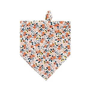 HDGDT Dog Bandanas, Washable Cotton Dog Scarfs, Triangle Bibs Scarf for Dogs Cats Pets (Cute Flower 3)
