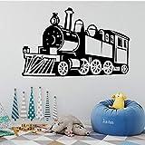 TYLPK Etiqueta de la pared del tren de vapor Etiqueta de la pared del tren desmontable Decoración Sala de estar Niños Habitación del niño Etiqueta de la pared del arte rosa 58X91CM