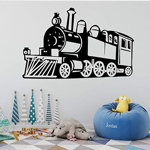 TYLPK Dampfzug Wandaufkleber Abnehmbare Zug Wandaufkleber Dekoration Wohnzimmer Kinder Jungen Zimmer Kunst Wandaufkleber gelb 58X91 CM
