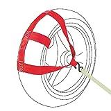 Oldbones Correa de amarre universal para rueda trasera de motocicleta, color rojo