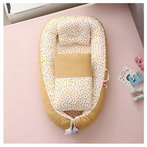 Babynestchen, 3-Teiliges Set, Kuschelnest, Multifunktionales Reisebett Für Neugeborene, Hohe Qualität Baumwolle, Mit Decke Und Kissen,I8,50cmx85cm
