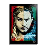Daenerys Targaryen y Jon Snow de Game of Thrones (Juego de Tronos) - Pintura Enmarcado Original, Ima...