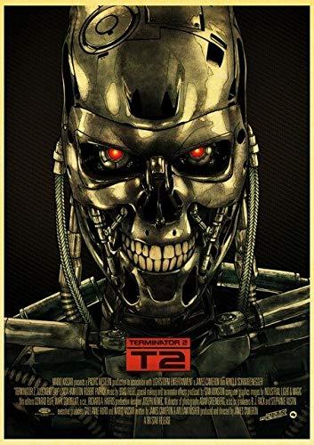 Fymm²shop Filmposter Fantasie The Terminator Poster Arnold Schwarzenegger Wandsticker Wandbilder Gemälde ohne Rahmen 50 x 70 cm (A7092)