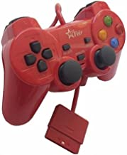 Controle com Fio para PS2 Feir - Vermelho - FR-206