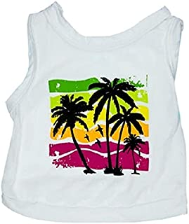 Ollypet Dog T-Shirt Tropical Beach Pet Vest Holiday Style XS/S/M/L