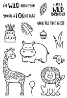 """Jane's Doodles Clear Stamps 4""""X6""""-Wild"""