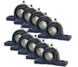 Jeremywell 10 Pieces UCP205-16, 1 inch Pillow Block Bearing Solid Base, Self-Alignment