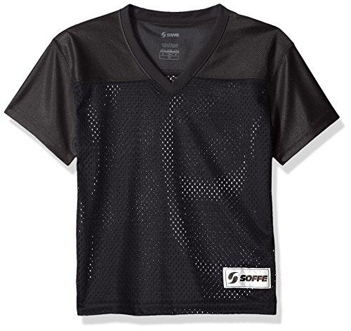 Soffe Girls' Big Mesh Football Jersey, Black, X-Large