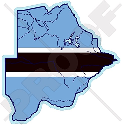 BOTSWANA Kaart-vlag Zuid-Afrika, Botswaanse 4