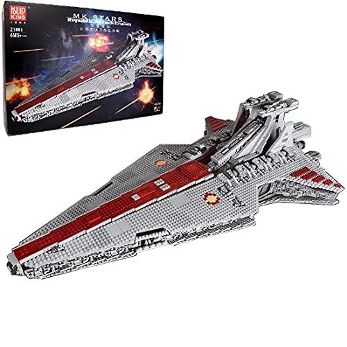 HEDI Technik Raumkreuzer Bauset, Mould King Sternenzerstörer 21005 Super Star UCS Klemmbausteine Kompatibel mit Lego Star Wars