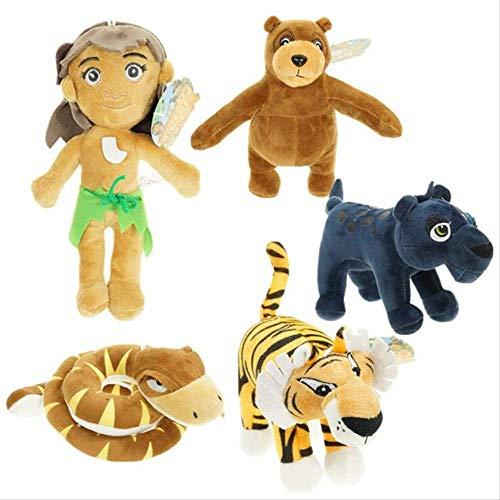 Yzhome 5 Stück 15-22Cm Plüschtier Das Dschungelbuch Tiger Bär Schlange Plüsch Weiche Kuscheltiere Baumwolle Puppe Spielzeug Für Kinder Geschenke Tierpuppe Geschenk