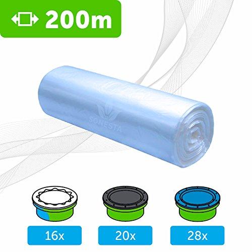 ECO Ricarica compatibile per mangiapannolini Tommee Tippee TEC Twist & Click Simplee | Angelcare | Litter Locker | Equivale 16 ricariche | compatibili al 100% | antiodore EVOH+