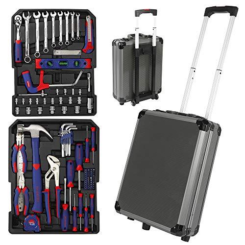 SISHUINIANHUA 111PC Trolley-Werkzeug-Set Aluminium Box Set Startseite Werkzeug-Kits