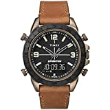 Timex Men's TW4B17200 Expedition Pioneer Combo 41mm Tan/Black Leather Strap Watch