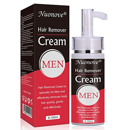 Enthaarungscreme, Haarentfernungscreme, Hair Removal Cream, Enthaarungsmittel Schmerzlose für Bikini/Unterarm/Brust/Rücken/Beine/Arm und Privater Bereich, für Männer, 100ml