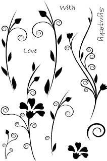 Art Stamps A6 Marion Emberson Floral Words Stamp