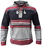 Little Kathmandu - Sudadera con capucha para hombre, mezcla de colores y gris Negro  L