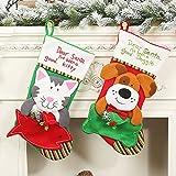 Le yi Wang You Haustier-Weihnachtsstrümpfe Haustier-Weihnachtssocken-Dekoration Mit Gestickten Hundekatzen-Muster-Kamin-hängenden Strümpfen Für Haustier Hund