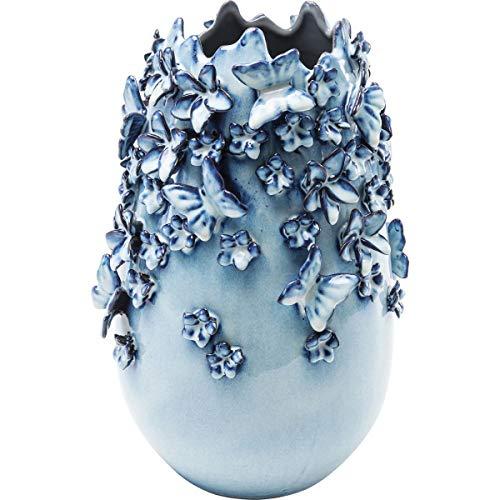 Kare Design Butterflies Vase, lightblue, 35 cm
