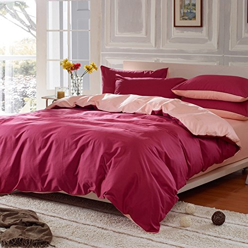GYYCY Spring And Summer Cotton Solid Color Four-Piece Cotton Bed Linen Bedding