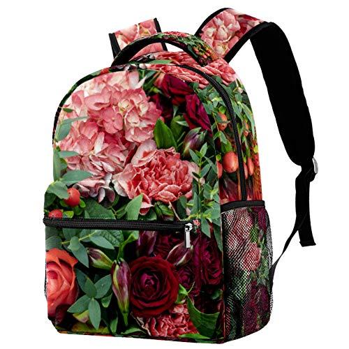 Mochila de patrón de rejilla de colores para adolescentes bolsas de libros escolares viaje casual Daypack