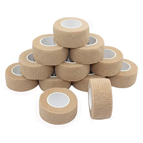 COMOmed selbstklebender verband elastische binde handgelenk bandage pflaster rolle Dog Bandagen Tierische Bandagen Farbe 2.5 cm X 4.5 m 12 Bände