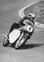 Vintage photo of Phil Read racing driver.