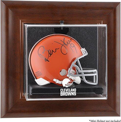 Cleveland Browns Mini Helmet Display Case - Brown - Football Mini Helmet Logo Display Cases