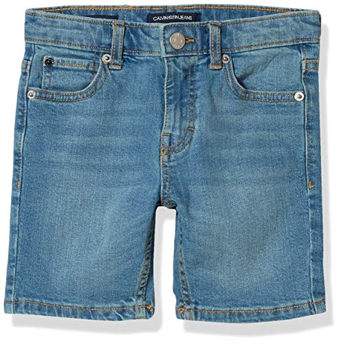 Calvin Klein Boys' Stretch Denim Short, Cabana Blue 2