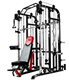 MiM USA Complete Set of Functional Trainer Smith Machine Power Cage & Adjustable Weight Bench...