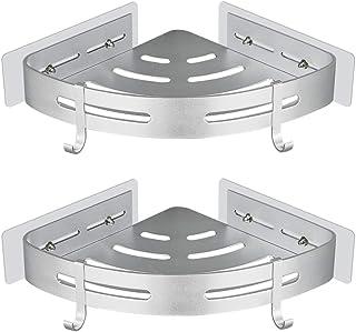 Gricol Bathtub Shower Corner Shelf Adhesive 2 Pack