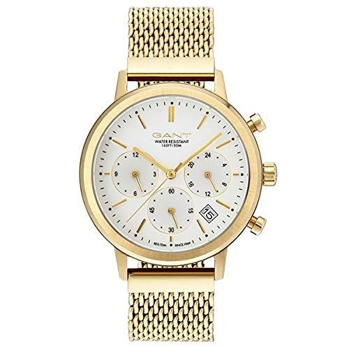 GANT Damen Analog Quarz Uhr mit Edelstahl Armband GT032003