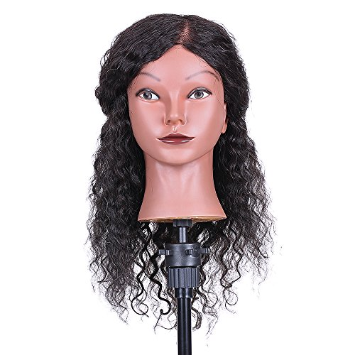 Cosmetology Mannequin Head Anself Hairdressing Training Head for Hair Styling Practice Hair Braiding Dummy Head (03#)