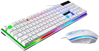 ZGB G21 Keyboard Wired USB Gaming Mouse Flexible Polychromatic LED Lights Computer Mechanical Feel Backlit Keyboard Mouse ...