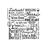 Wine Word Art Stencil by StudioR12 | Reusable Mylar Template Paint Wood Sign | Craft Rustic French Country Home Decor | DIY Scrapbooking - Journaling - Stamping - Wall Art - Background | Select Size