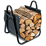 Firewood Log Hauler Log Carrier Log Cart Carrier Wood Rack Storage Mover for Outdoor and Indoor with Included Cover
