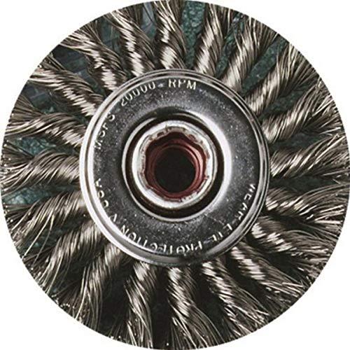 United Abrasives- SAIT 06461 4' x .020 x 5/8-11 Arbor Stainless Bristle...