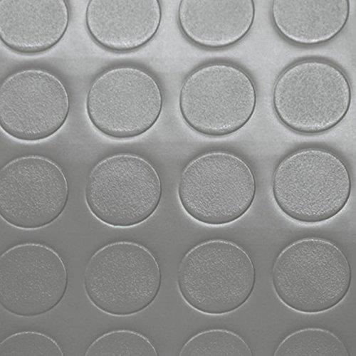 PVC Bodenbelag Noppenbelag Noppe Uni Grau (10,90 € p. m²) (Breite: 200 cm x Länge: 500 cm)