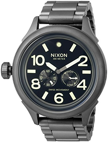 Nixon Men's 'October Tide' Quartz Metal and Stainless Steel Watch, Color:Grey (Model: A4741418-00)